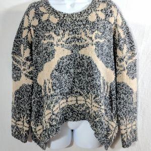 Boohoo Reindeer Boxy Sweater